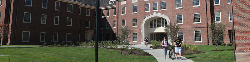 The new archway in Ethridge Hall