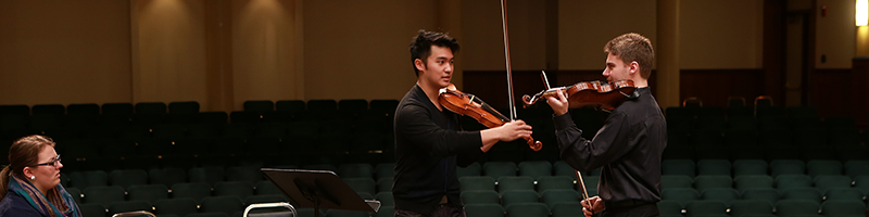 Big names, like Ray Chen, teach master classes to our music students