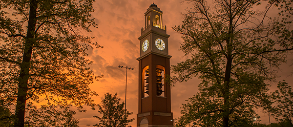 View of Pulley Tower during sunset
