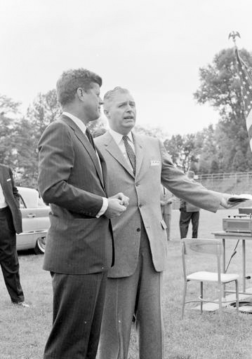 Millett and John Kennedy on campus