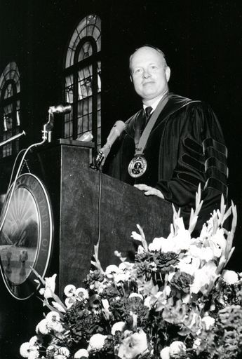SHriver giving his Inaugural Address