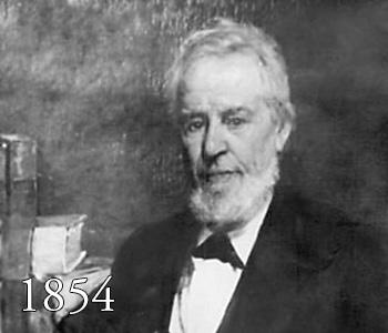 John W. Hall, 1854