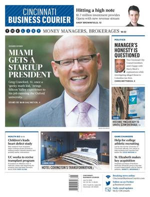 Dr. Crawford featured on the cover of the Cincinnati Business Courier magazine