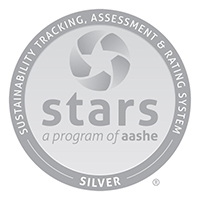 Sustainability Tracking, Assessment & Rating System Silver logo