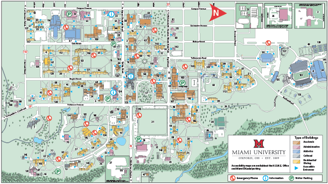 Miami Oxford Campus Map.Oxford Campus Maps Miami University