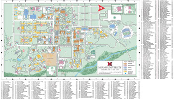 Campus Map with legend