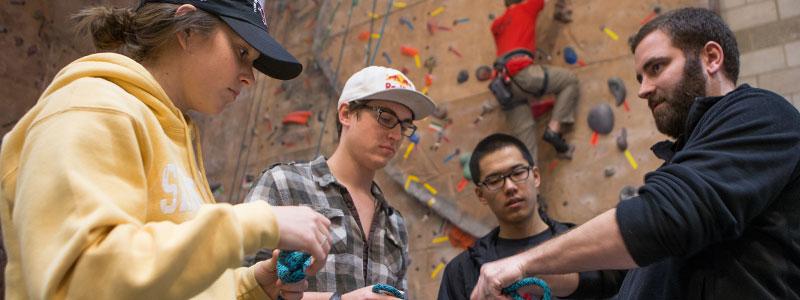 Rock climbing class