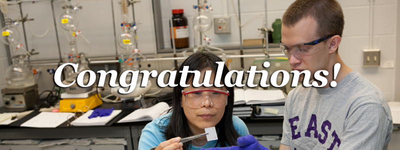 Congratulations! -Student and instructor in chemistry class-