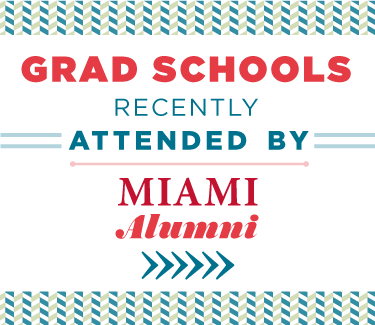 Grad Schools Recently Attended by Miami Alumni