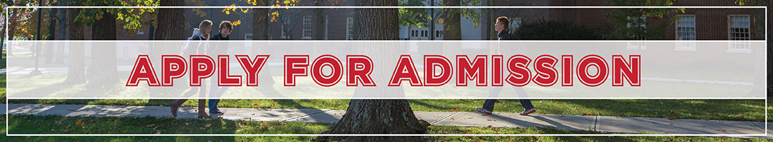 Text-Apply For Admission-overlaying an image of students walking on the sidewalk