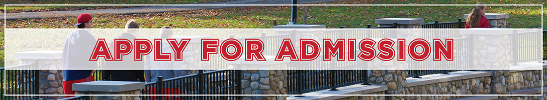 Text-Apply For Admission-overlaying an image of students walking over a stone bridge