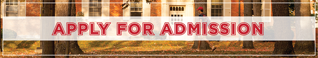 Text-Apply For Admission-overlaying an image of a student walking on a sidewalk