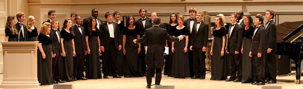 the chamber singers performing
