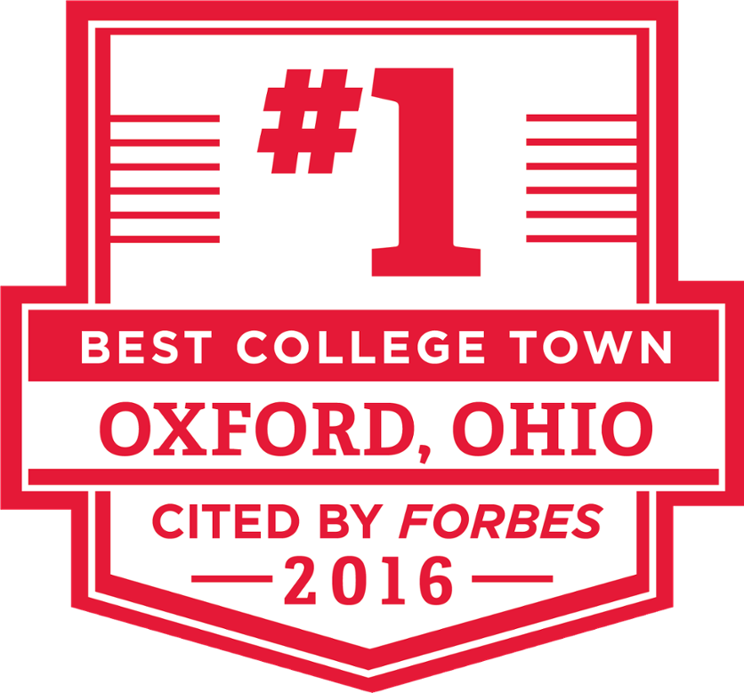 Oxford, OH: Best College Town, cited by Forbes