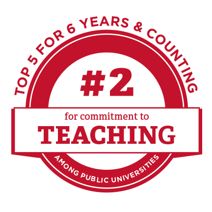 #2 for commitment to teaching among public universities