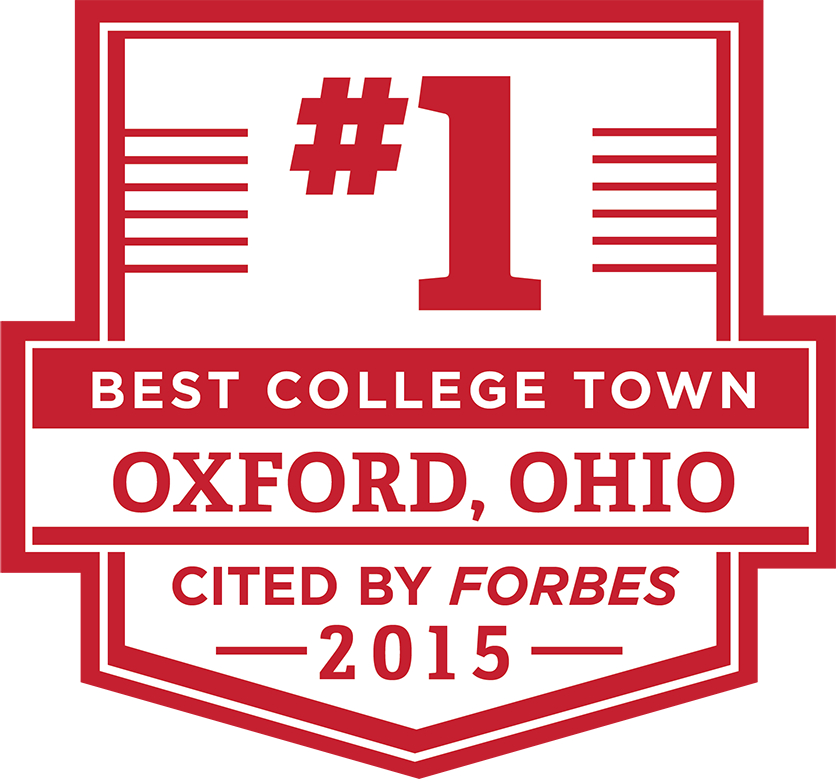 Oxford, OH: Best College Town, cited by Forbes in 2015
