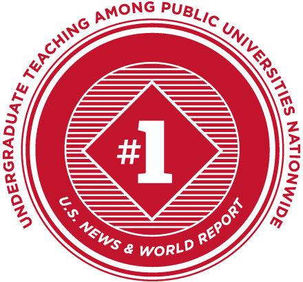 Number one in undergraduate teaching among public universities nationwide according to U.S. News & World Report.