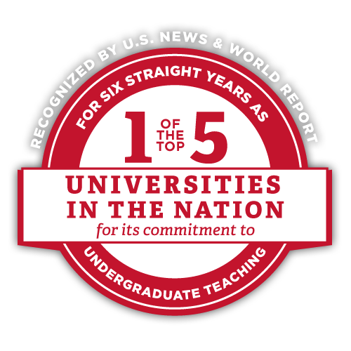 Number 2 for commitment to teaching among public universities - Top 3 for 6 years and counting