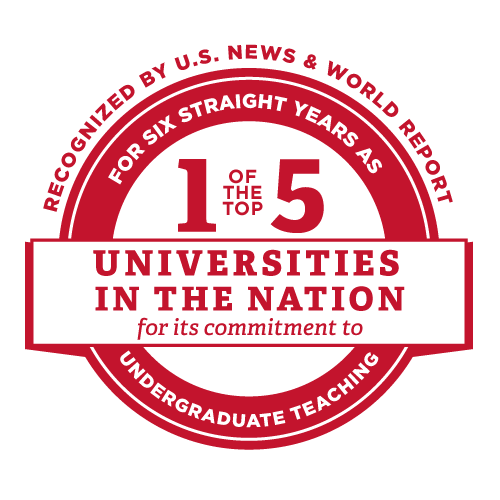 Number 2 for commitment to teaching among public universities. Top 5 for 6 years and Counting.