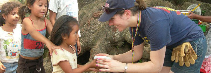 Miami student works with children abroad