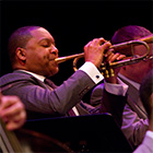 Wynton Marsalis playing the trumpet at Miami