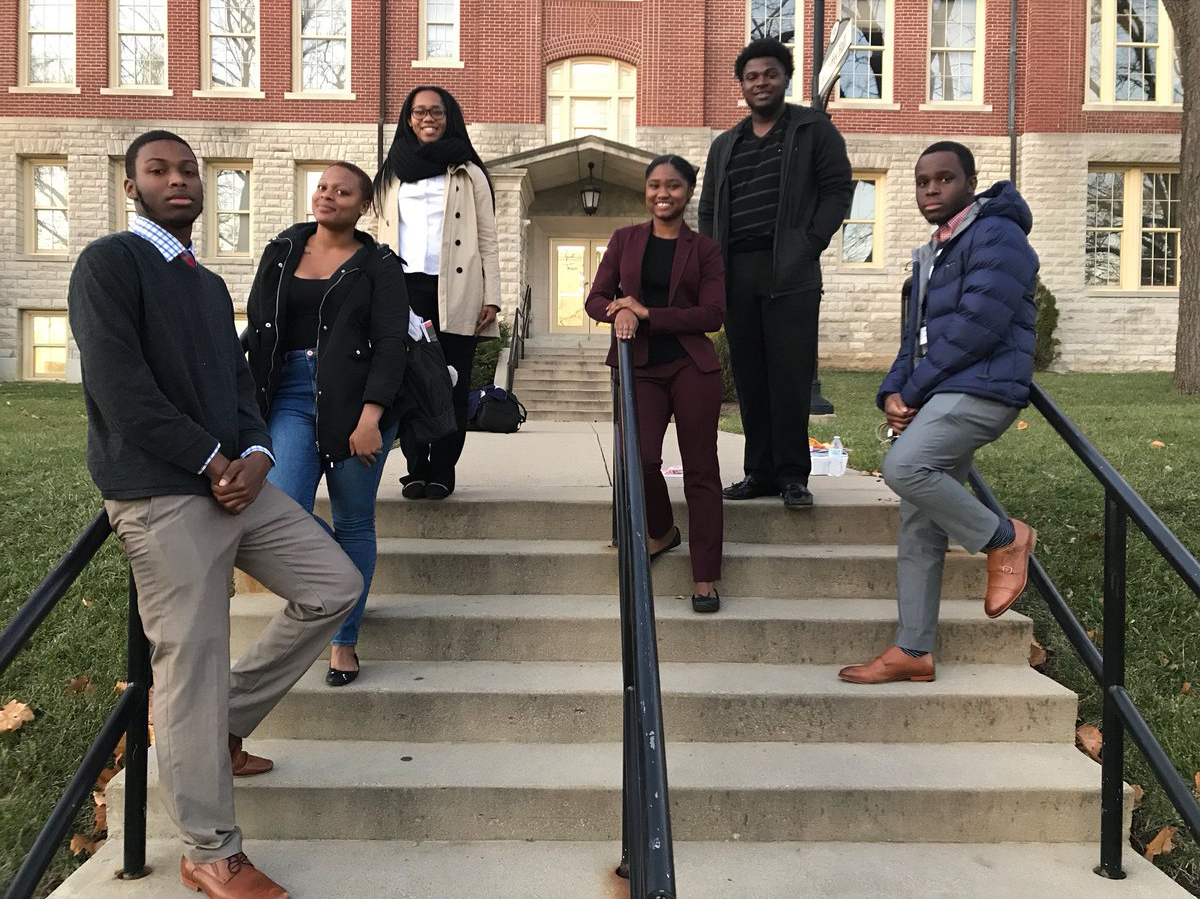 Students on the steps of McGuffey hall