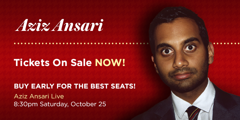 Aziz Ansari - Miami Family Weekend - October 25, 8:30 pm, Millett Hall