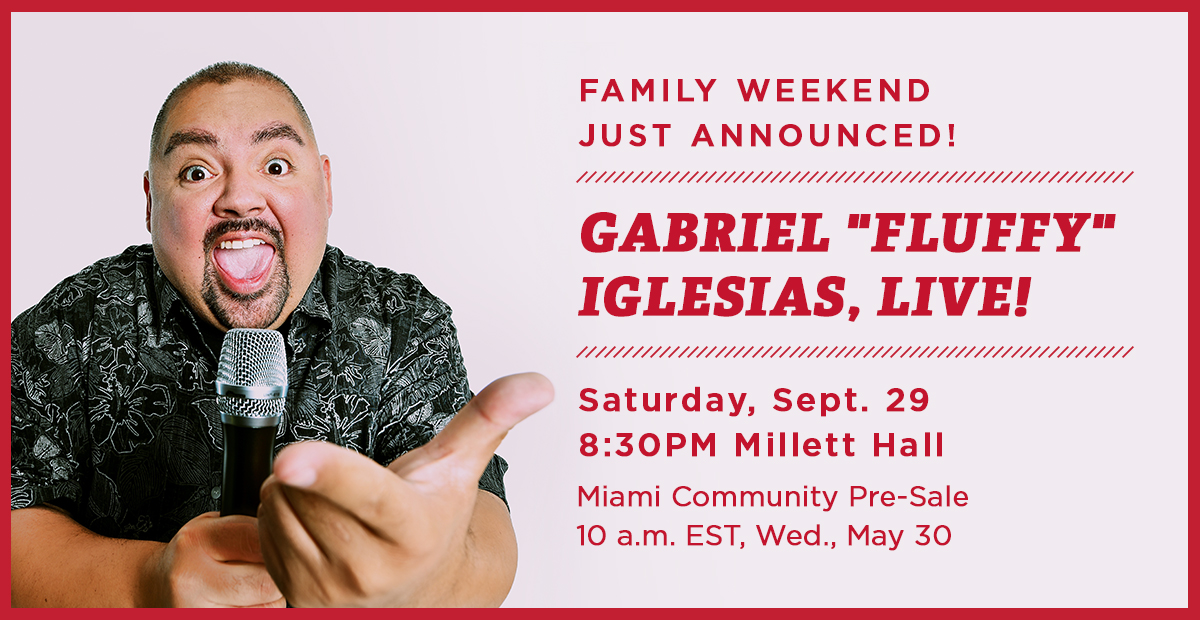 Family weekend just announced. Gabriel