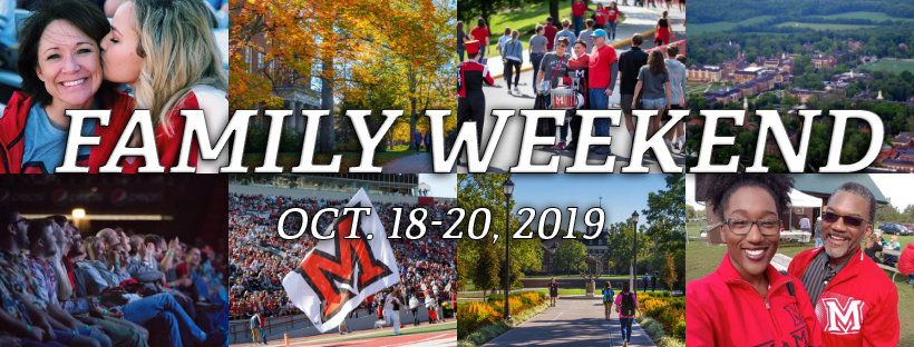 Family Weekend October 18-20, 2019