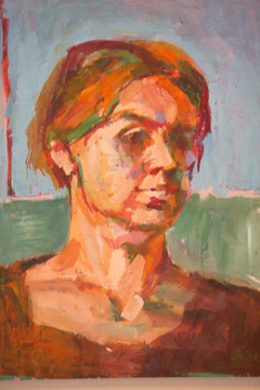 Jean Lodge, an early self portrait