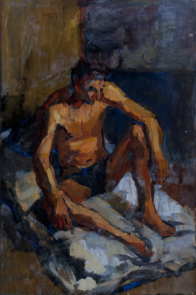 Male study, 1964, oil on canvas.