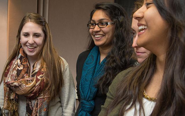 Students enjoying Bollywood and Hindi language classes