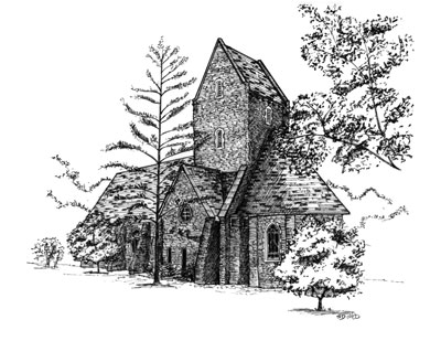 Pen and Ink Sketch of Kumler Chapel