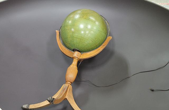 original globe before modification