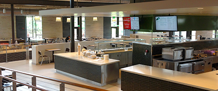 A view from inside Western Dining Commons