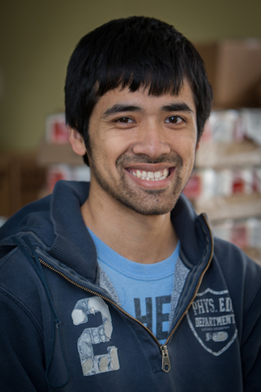 Peter Engelhard is one of the several Miami students who volunteer at the pantry.