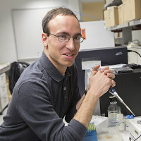 Jon Moller, Goldwater Scholar, in the lab