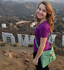 Britton Perelman at Hollywood Sign