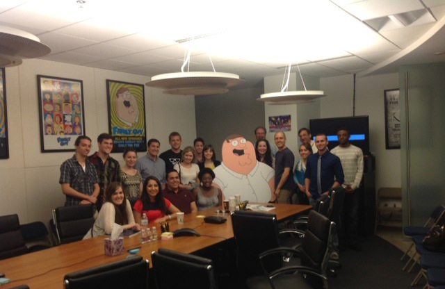 Family Guy plays host to Miami students.