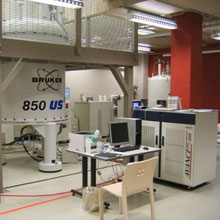 850 MHz nuclear magnetic resonance (NMR) spectrometer in Miami's Center for Structural Biology and Metabonomics