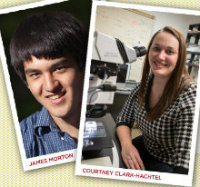 face photo of Courtney Clark-Hachtel and James Tong Morton