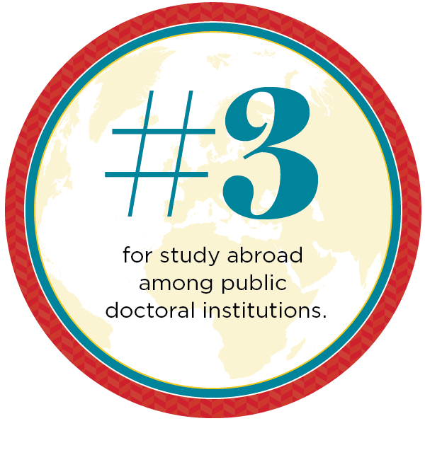 #3 for study abroad among public doctoral institutions