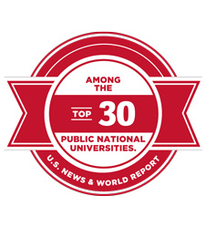 Among the top 30 public national universities according to U.S. News and World Report
