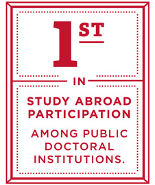 First in study abroad participation among public doctoral institutions.