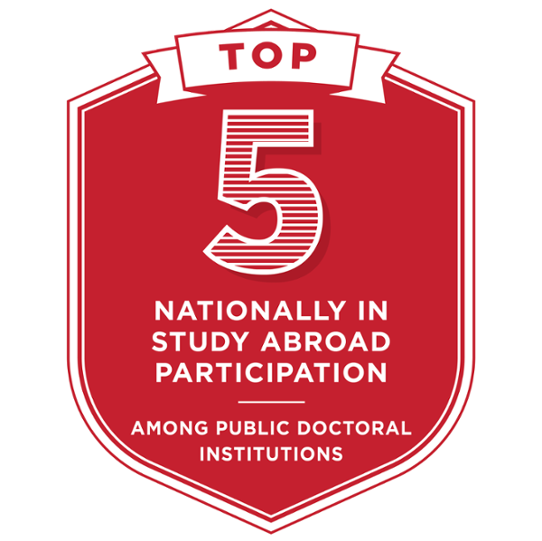3rd nationally in study abroad participation among public doctoral institutions