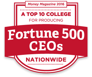 According to Money Magazine 2016, Farmer School of Business is a top 10 college for producing Fortune 500 CEOs nationwide
