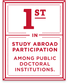 First in study abroad participation among public doctoral institutions