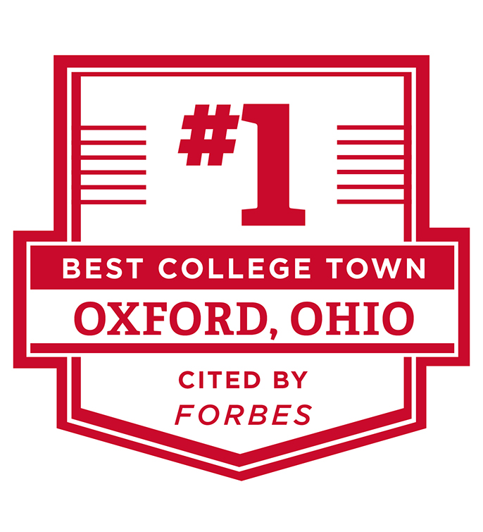 #1 Best College Town Oxford, OH cited by Forbes