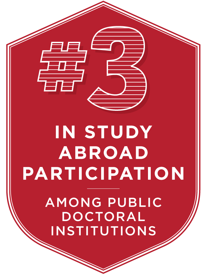 Number 3 in study abroad participation among public doctoral institutions.