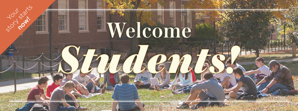 Welcome students! Your story starts now, read more